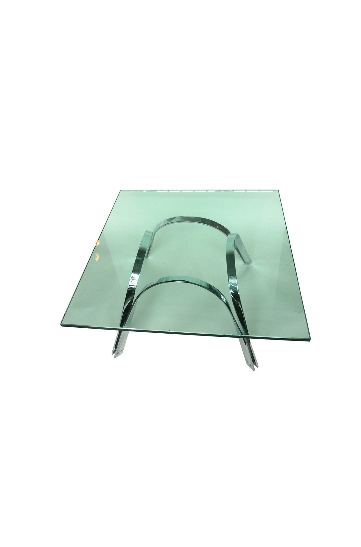 Roger Sprunger Glass & Chrome Coffee Table