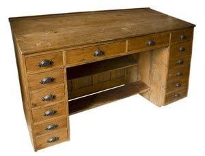 English Heart Pine Architect's Desk