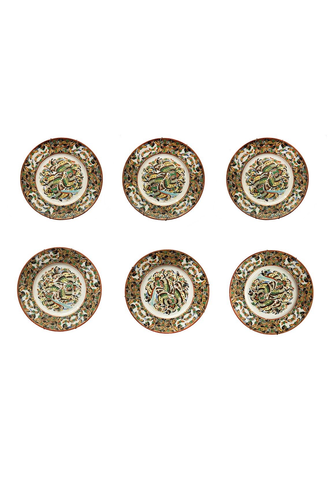 20th Century Chinese Decorative Plates - a Set of 6