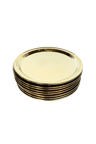 Seletti Gold Porcelain Plates Estetico Quotidiano Collection - a Set of 8