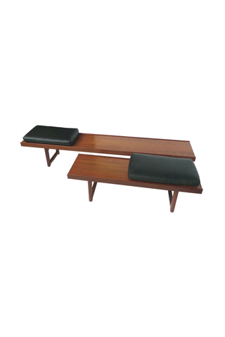 Set of 2 Solid Teak Bench-Tables by Tobjorn Afdal for Bruksbo Norway