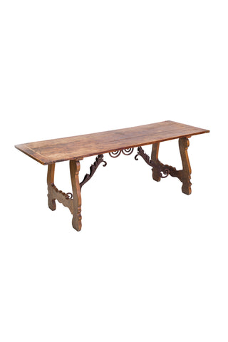 Early 19th Century Spanish Baroque-Style Elm Dining Table