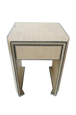 Steve Chase Grasscloth Side Table