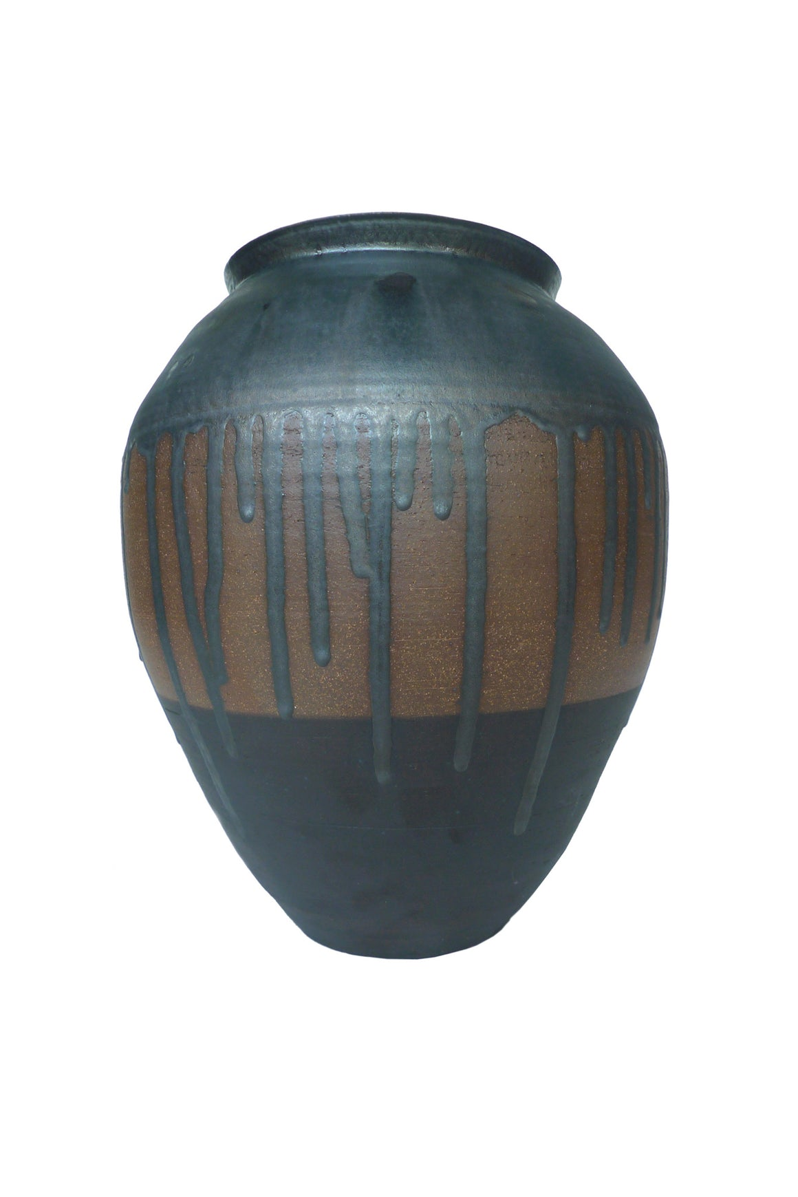 Thom Lussier Metallic Black Glazed Ceramic Urn