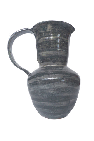 Thom Lussier Gray Striped Ceramic Vase