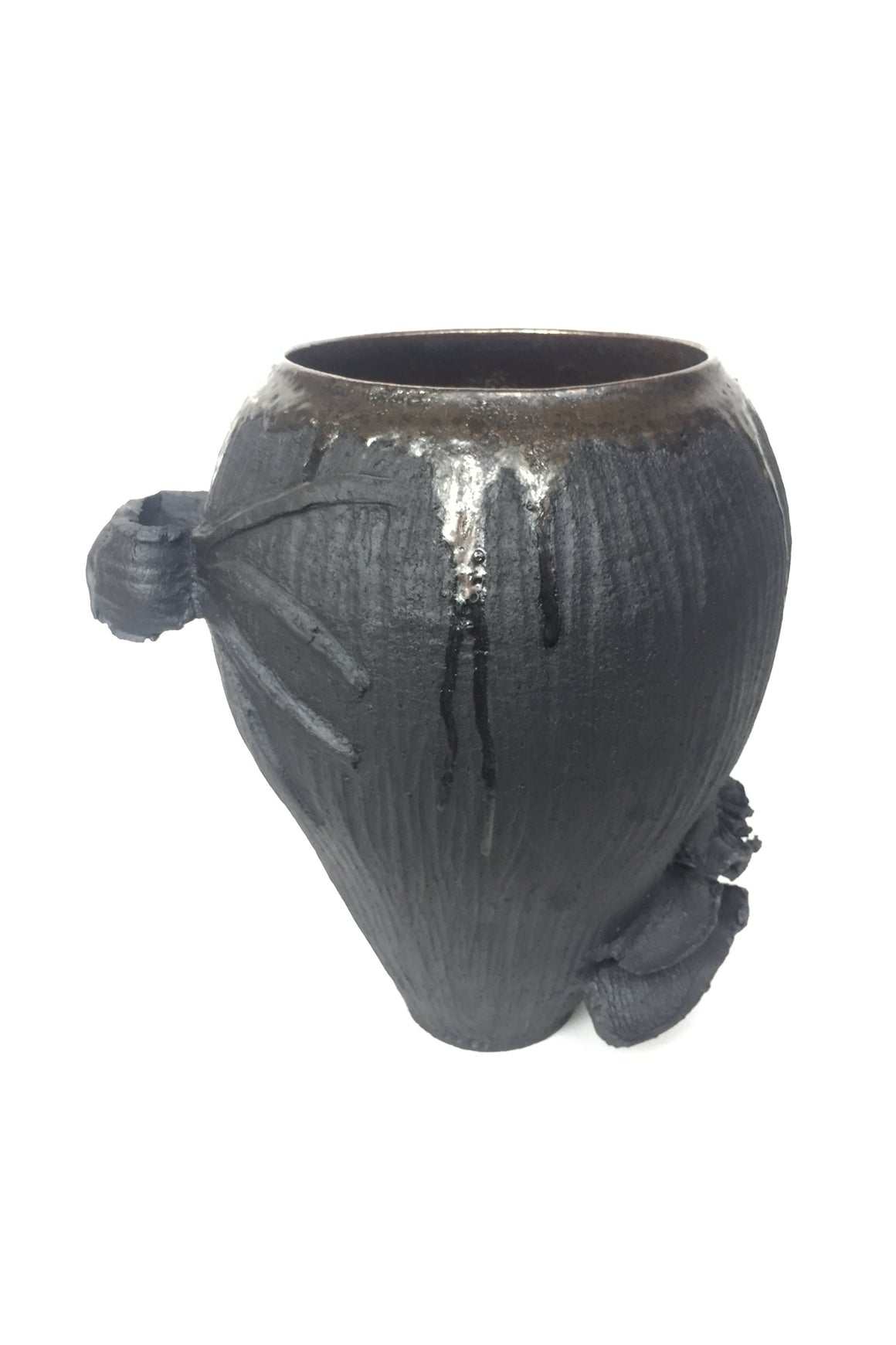 Thom Lussier Igneous-Gray Ceramic Urn