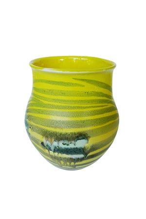 Thom Lussier Yellow Zebra Ceramic Vessel