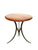 20th Century Round Teak & Iron Custom-Made Side Table