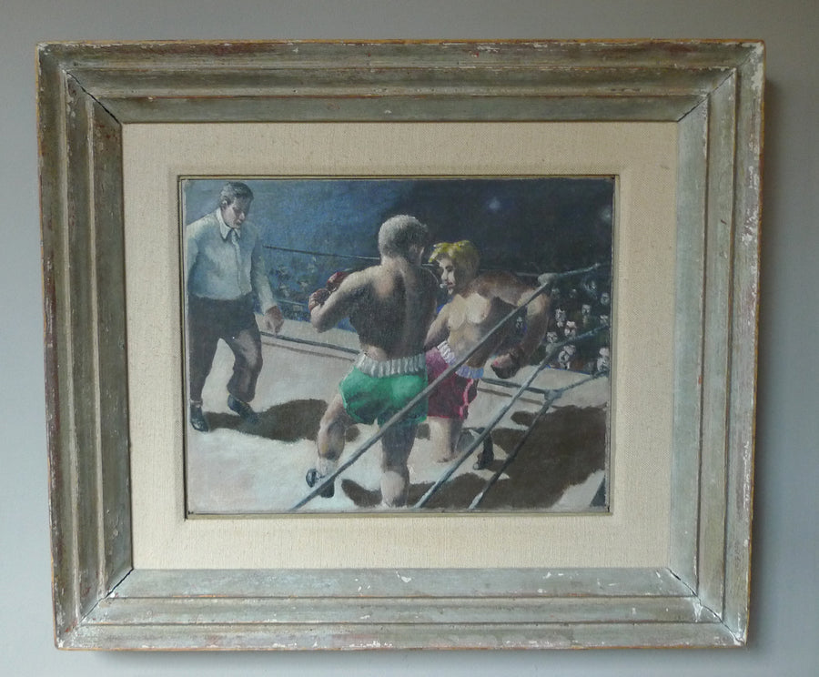 Boxing Match, Oil Painting by Unknown Artist, after Robert Riggs