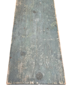 Early 20th Century Teal Blue Country Bench