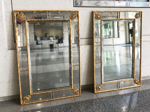 Pair of Neoclassical Style Giltwood Wall Mirrors