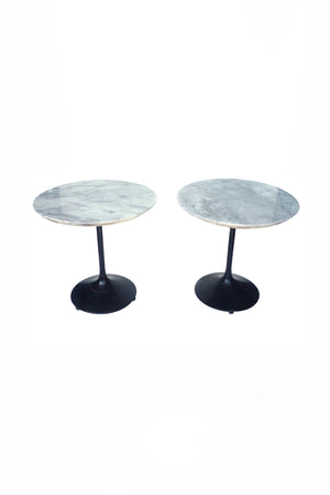 Custom-Made Carrara Marble Side Tables