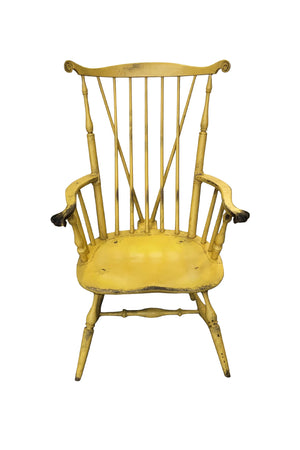 20th Century Yellow Fanback Windsor Chair by Bill Wallick