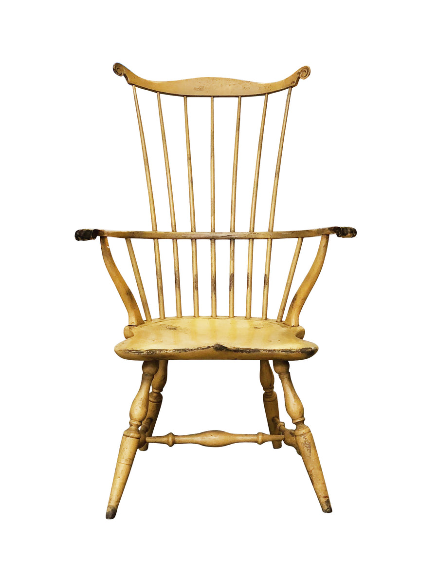 1980s Yellow Philadelphia Windsor Armchair by Bill Wallick