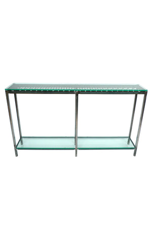 Iron and Glass Console Table
