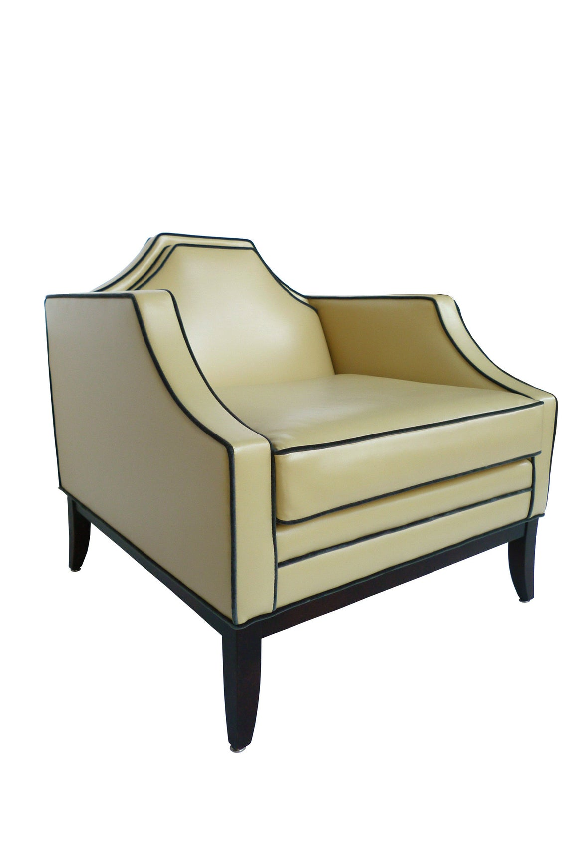 Yellow Arm Chair in the Style of David Hicks