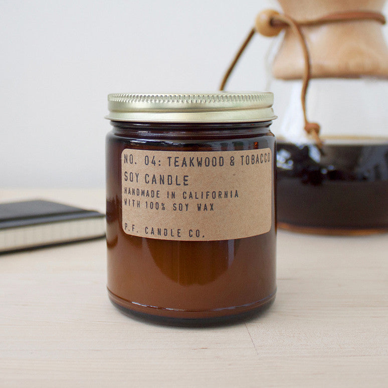 Teakwood + Tobacco Soy Candle - KESTREL