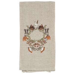 Peek-a-Wreath Tea Towel