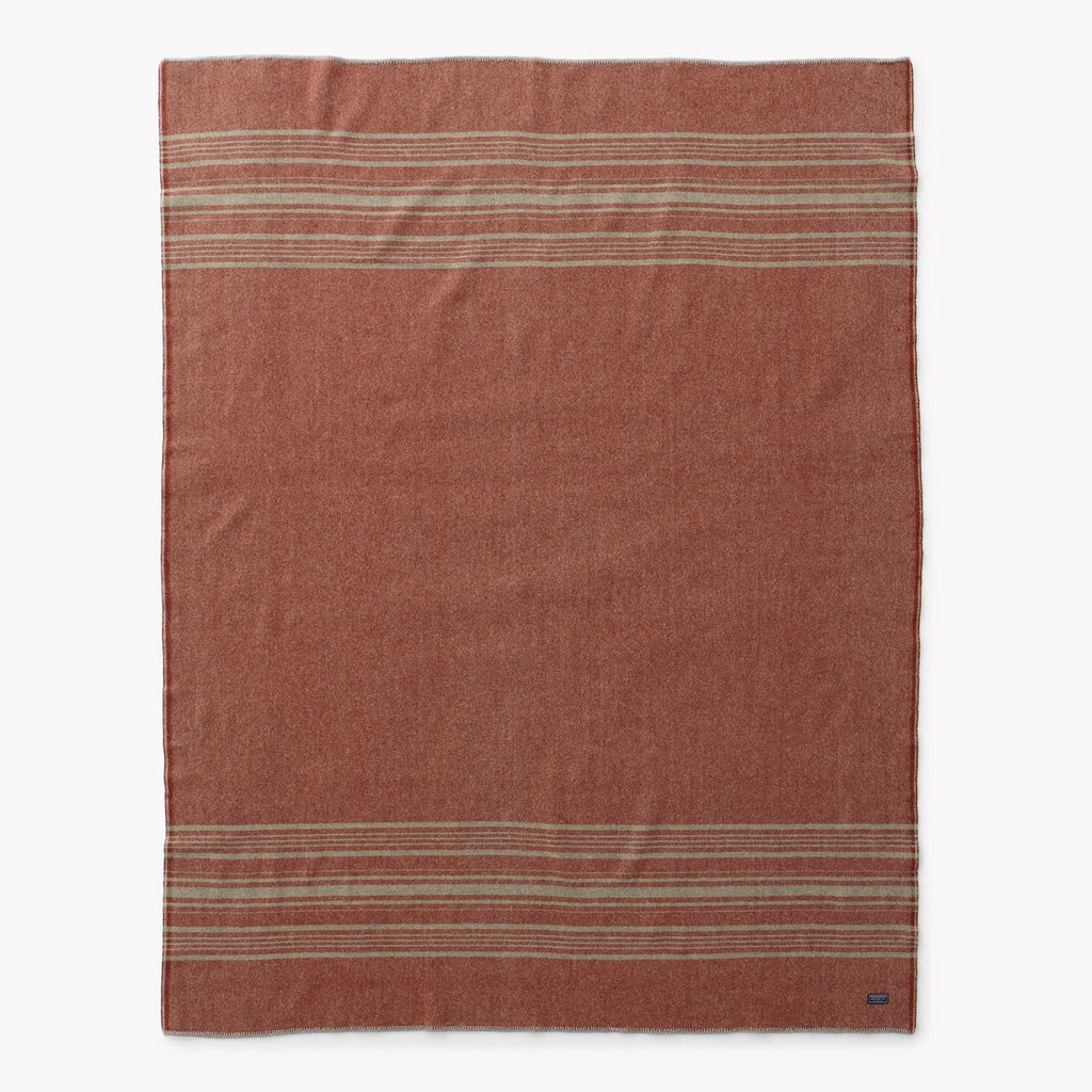 Rust Weekender Stripe Throw