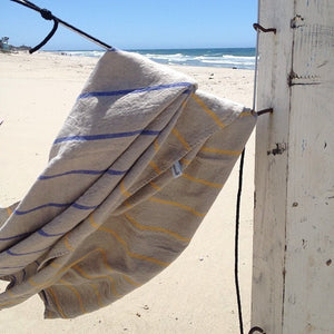 Striped Linen Beach Towel