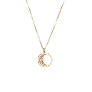 14K Aura Moon Necklace - KESTREL