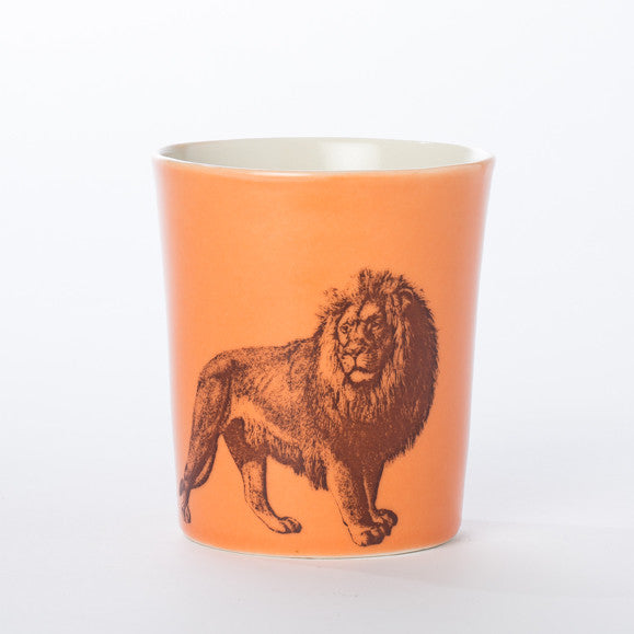 12oz Porcelain Animal Tumbler (Lion) - KESTREL