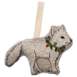 White Fox Ornament - KESTREL