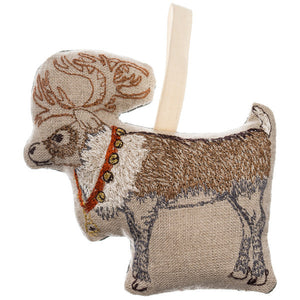 Reindeer + Bells Ornament
