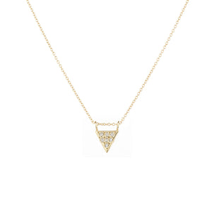 14K Diamond Triangle Necklace - KESTREL
