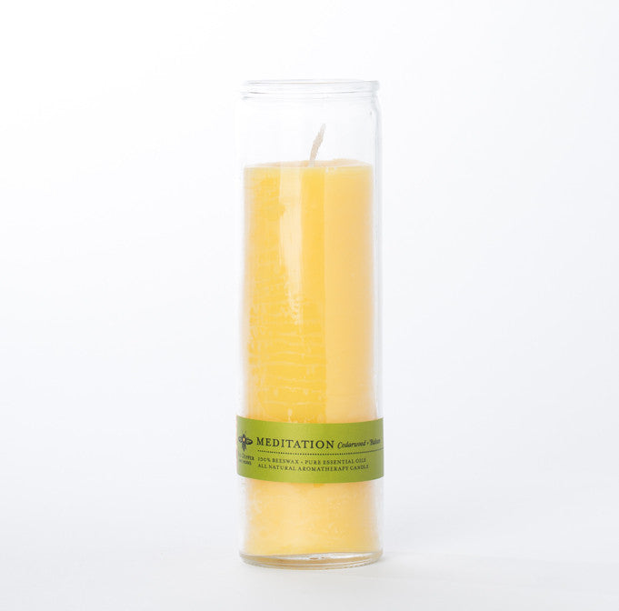 Tall Beeswax Jar Candle - Meditation