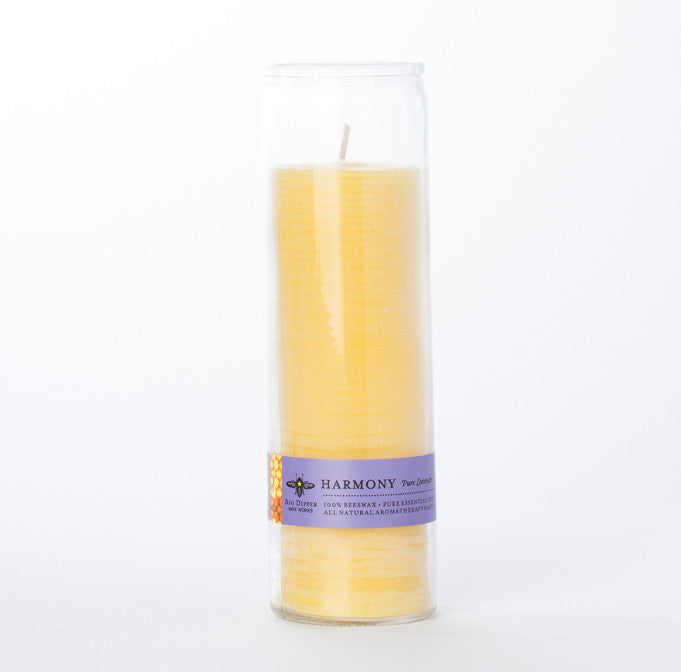 Tall Beeswax Jar Candle - Harmony