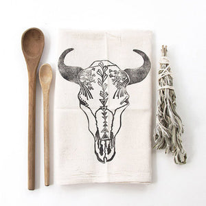Botanical Buffalo Tea Towel - KESTREL