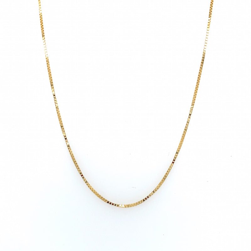 NY Box Chain Necklace - 15""