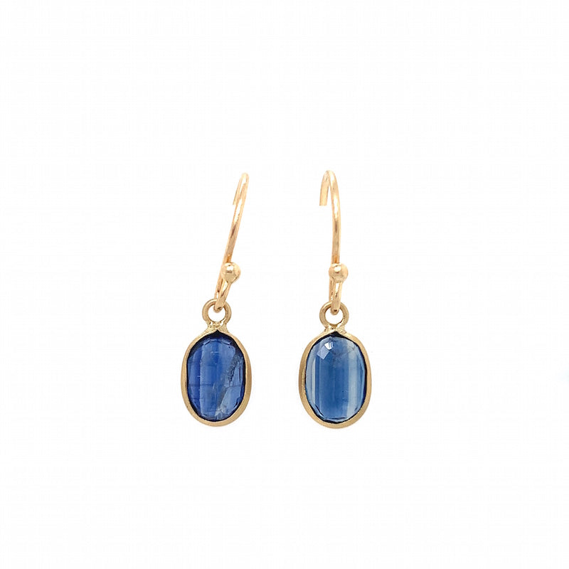 Small Kyanite Earrings - 14k