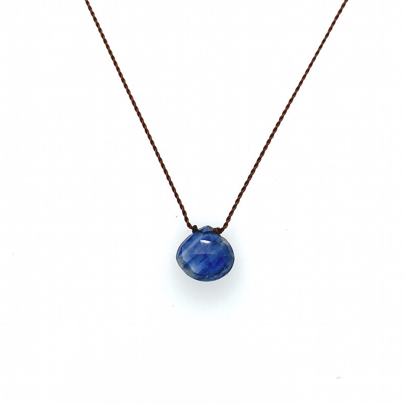 Faceted Droplet Necklace - Kyanite