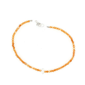 Orange Citrine + Herkimer Bracelet
