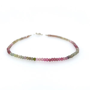 Ombre Tourmaline Beaded Bracelet