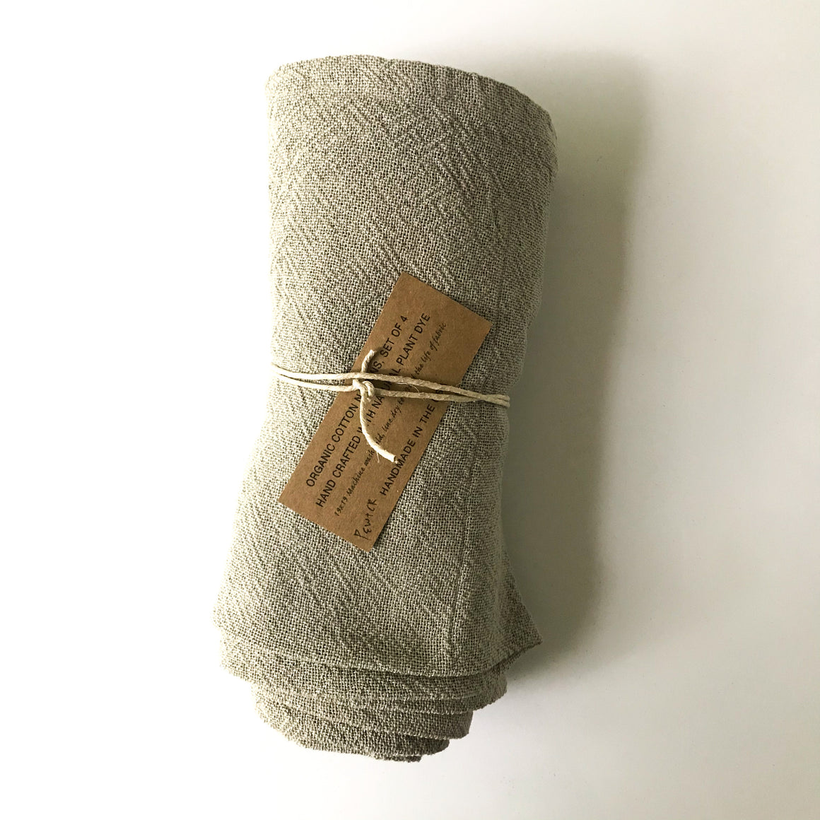 Organic Cotton Napkins - Pewter