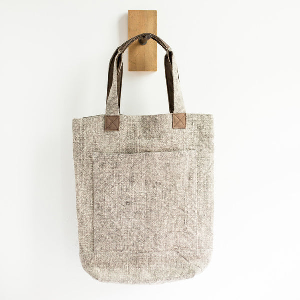 Deep Linen Tote Bag (Light Grey)