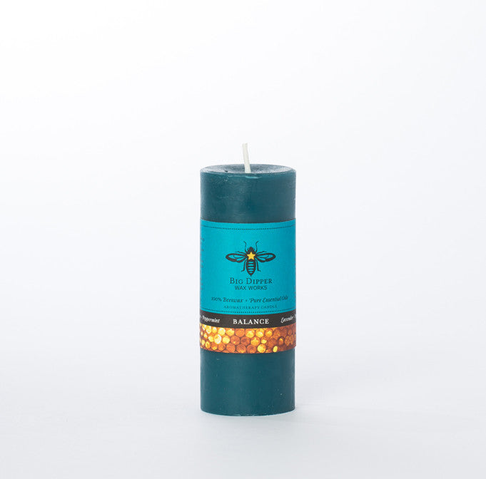 Beeswax Small Pillar Candle - KESTREL