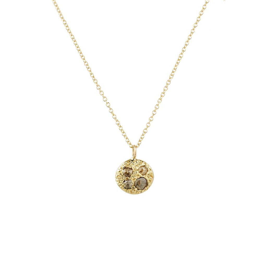 14K Gold Eros Necklace with Diamonds