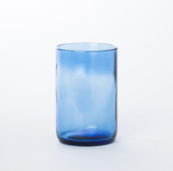 Blue Recycled Glass Tumbler