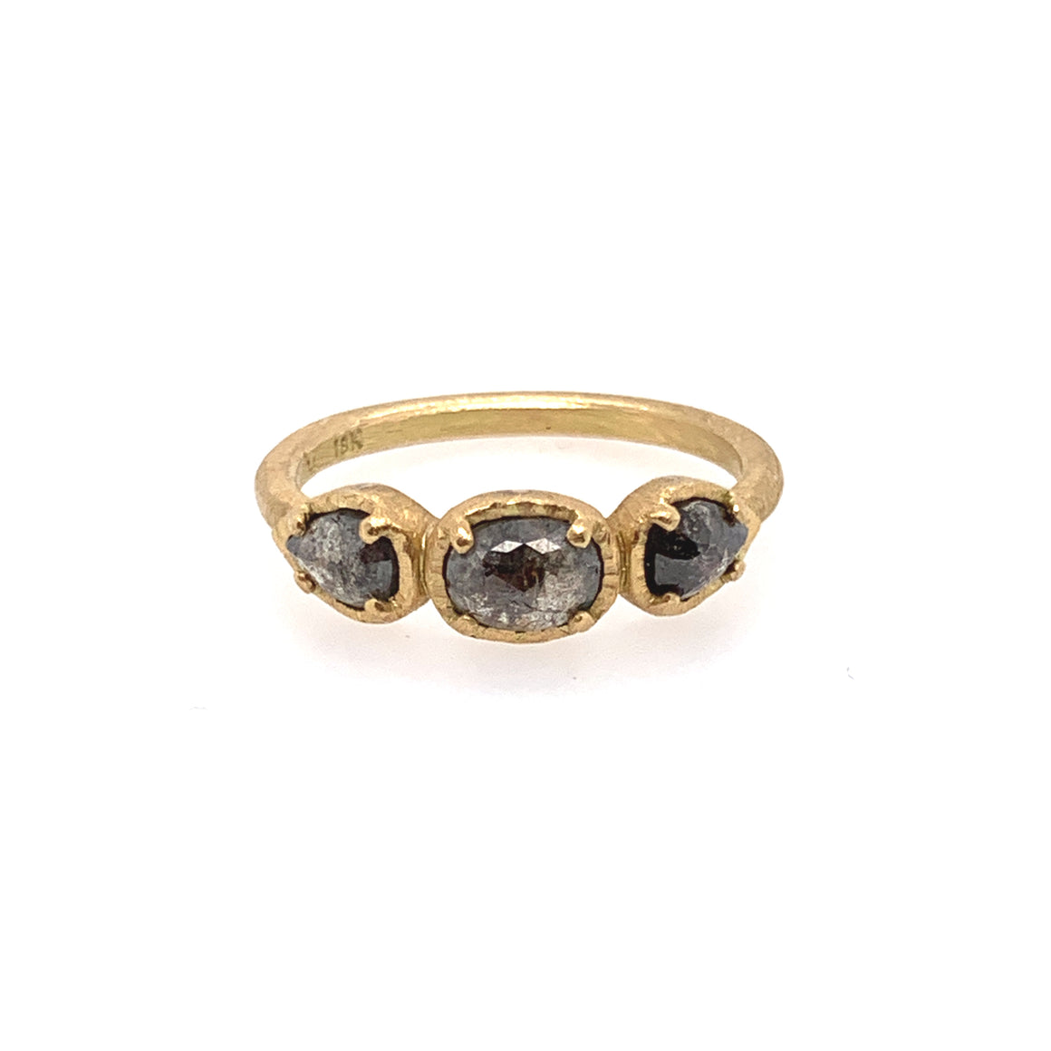 Black Diamond Triplet Ring