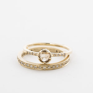 Rosecut Chocolate Diamond Ring