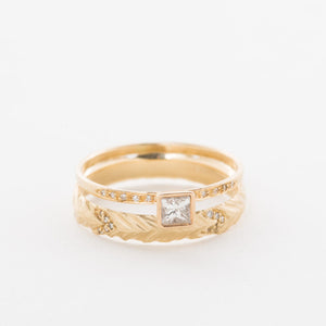 14K Princess-Cut Pave Ring - KESTREL