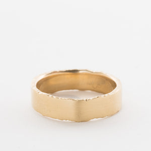**14k Gold Men's Rough Edge Band** - KESTREL
