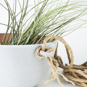 Hanging Planter with Jute (Gray) - KESTREL