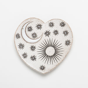 Heart Shaped Dish - Sun Moon Stars