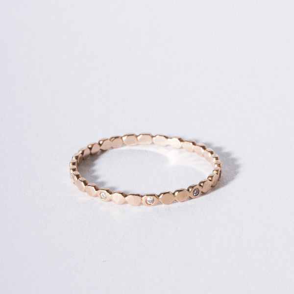 14K Rose Gold Bubble Band Diamonds Rebecca Overmann Jewelry