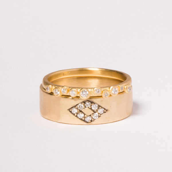 14K Wide Pave Diamond Band - KESTREL